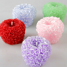 Free shipping Rose apple candles silicone mold 3d