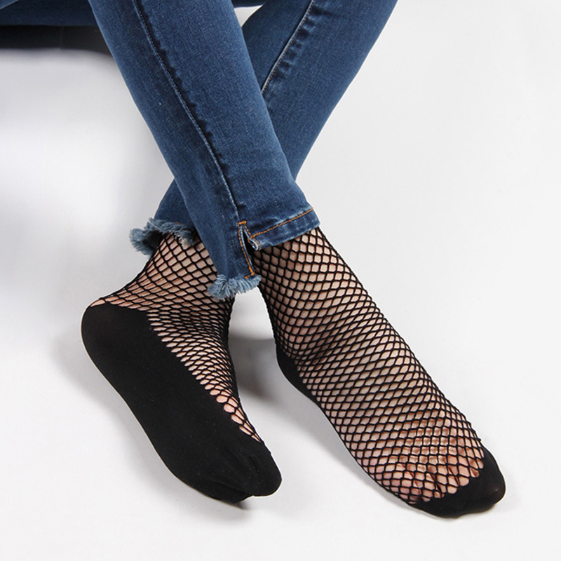 Sexy Hollow Out Socks Women Harajuku Breathable Fishnet Socks Streetwear Nets Socks Chaussette Mesh Sox Meias Sokken Calcetines