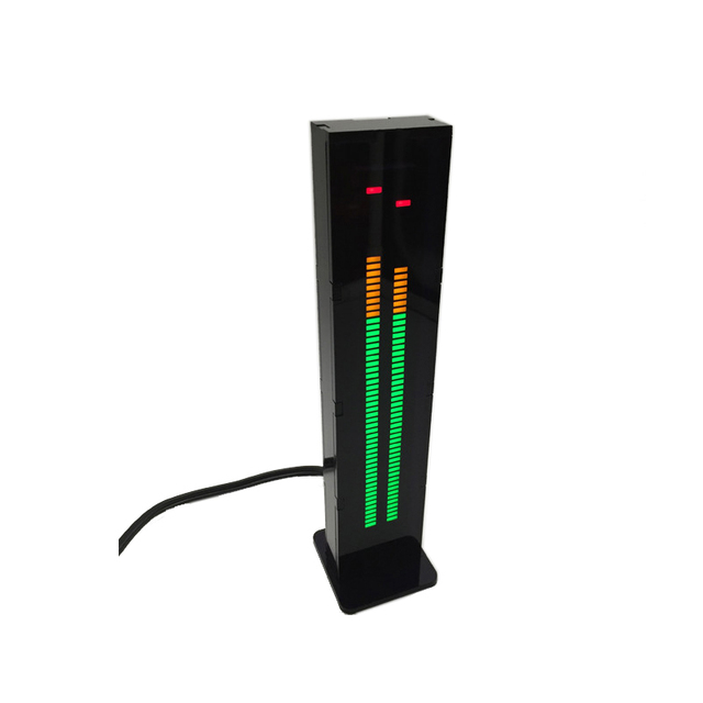 AS60 LED Music Spectrum Indicator Dual Channel 60 Professional Level Volume Display Electronic Light VU Meter DIY