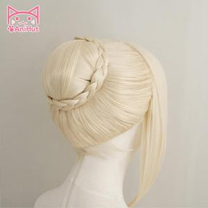 Image 4 - 【AniHut】Alter Saber Wig Fate Grand Order Cosplay Wig Synthetic Heat Resistant Hair Saber