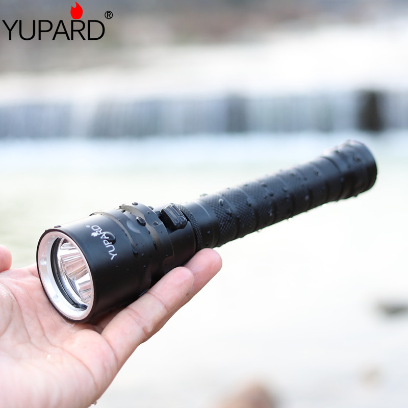 YUPARD Diving diver XM-L2 3*L2 led white yellow light T6 led lantern swiming Flashlight Torch Waterproof light underwear Lamp