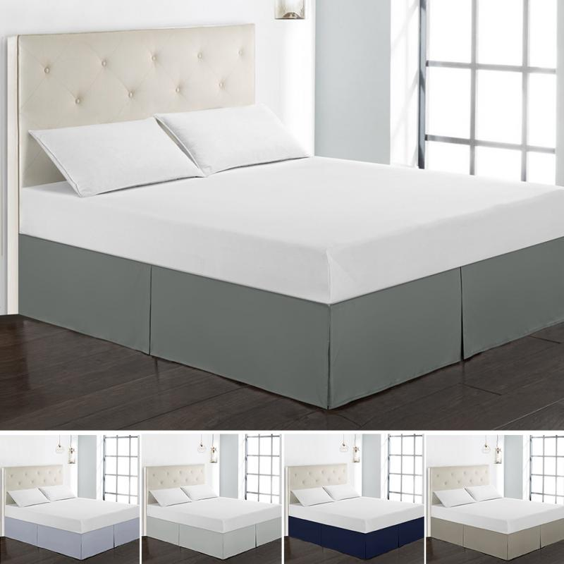 Polyester Solid Color Elastic Bed Skirt Without Bed Surface Dustproof Bed Apron 38cm Height Bedspread Bed Skirt