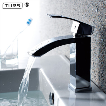 Free Shipping Waterfall Copper Bathroom Vanity For Washbasin Mixer Tap Chrome Basin Modern Fashion Style Chrome/Nickel Brushed