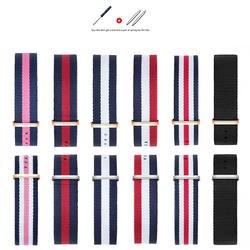 2018 новый стиль НАТО ремешок мм 18 мм ремешок для часов Серебряная Пряжка армейский Военный нейлоновый браслет для часов браслет мм 20 мм