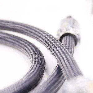 Image 4 - Hi End 4 kwadratowy hifi audio ue/moc US przewód czysty miedziany kabel zasilający