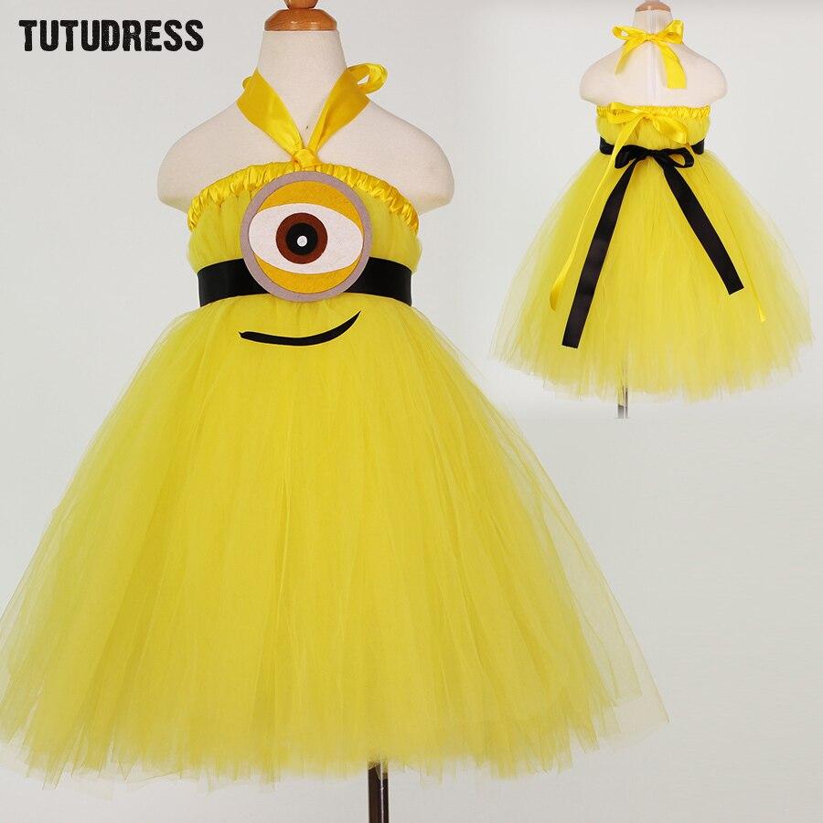 Aliexpress.com : Buy New Children Minion Princess Tutu Dress Baby ...