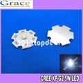 10pcs Cree XLamp XPG2 XP-G2 R5 Warm White  White Cold White 1W~5W 3000k 4000k 6000K 220LM LED Light Lamp on 20mm Star pcb