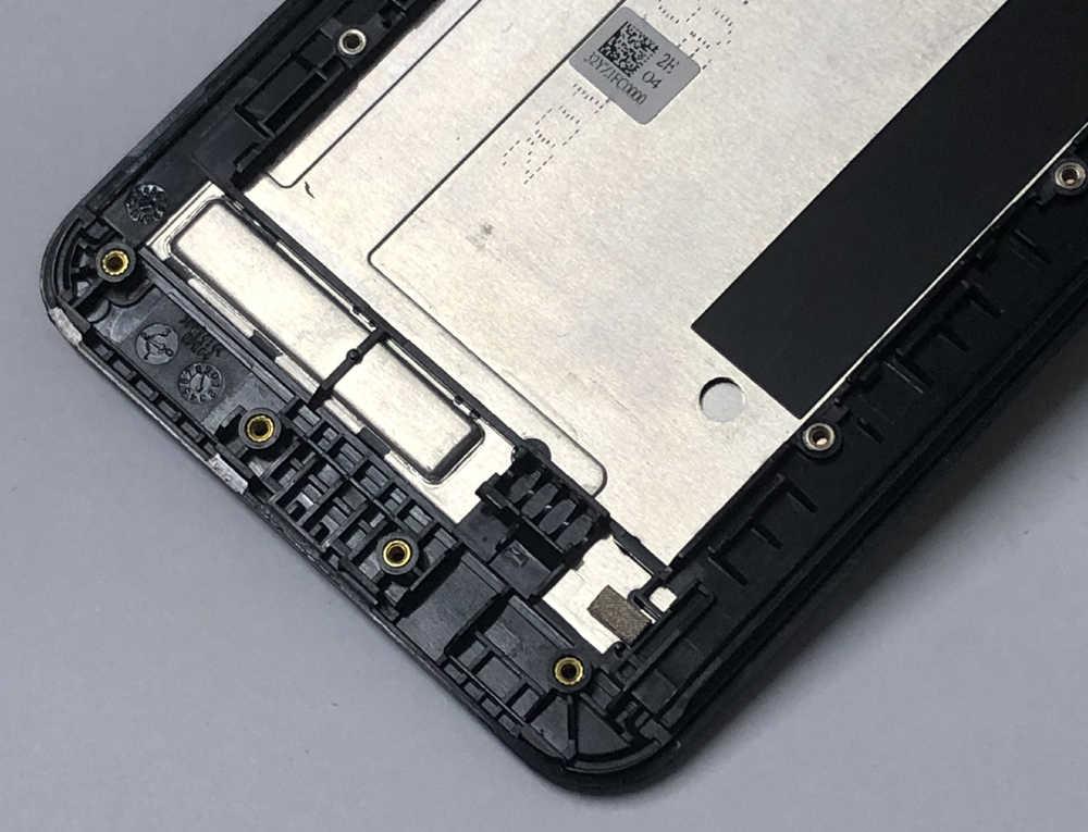 100% اختبار ل آسوس Zenfone 2 ZE551ML Z00AD الكامل الاستشعار الزجاج محول الأرقام بشاشة تعمل بلمس + شاشة الكريستال السائل لوحة الجمعية مع الإطار
