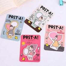 Cute Kawaii Girl Memo Pad Paper Sticker Cartoon Post It Note For Kids Gift Office School Supplies Free Shipping 4003