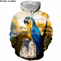 PLstar Cosmos Mens Clothing Cute Bird 3d Print Parrot Hoodies Men/Women Casual Sweatshirt Jacket Pullover Tops Dropshipping