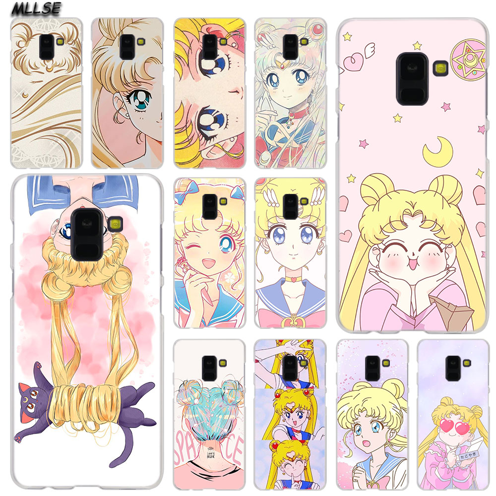 Provided Mllse Anime Sailor Moon Lune Cat Fashion Case Cover For Samsung Galaxy A6 A8 Plus A9 A7 2018 A5 2016 2017 A6s A9star Note9 8 5 4 Sufficient Supply Cellphones & Telecommunications Half-wrapped Case