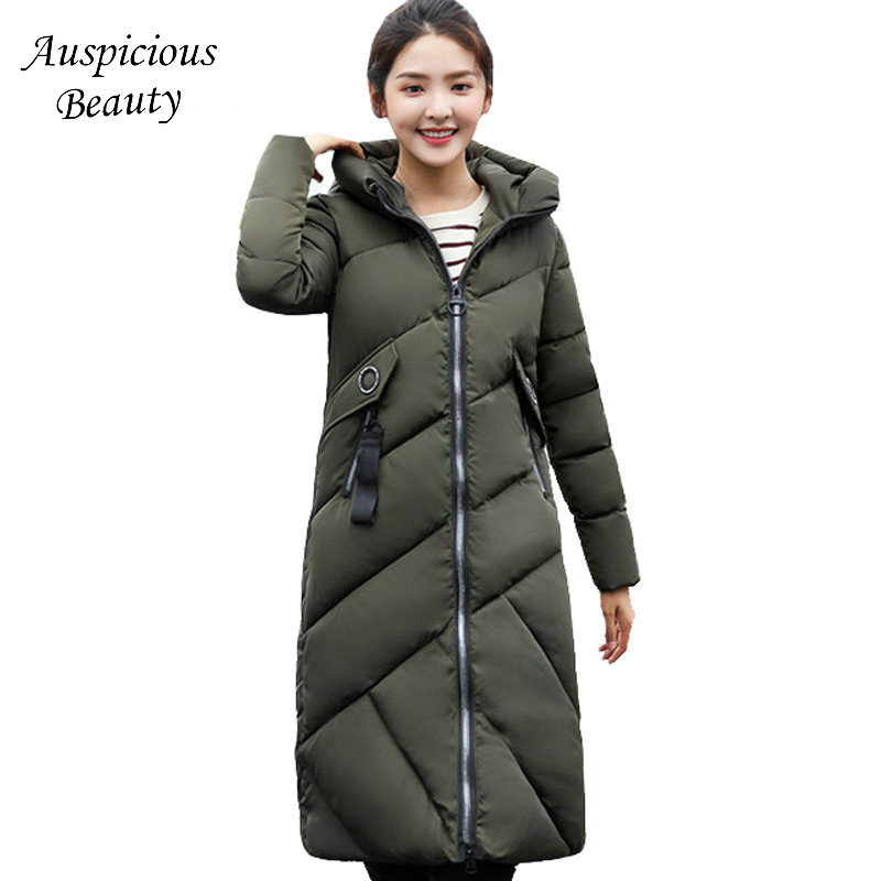 High Quality 2017 Long Parkas Coat Woman Hooded Slim Quilted Jacket Solid Thicken Warm Winter Cotton Female Outwear TSL190 2017 new women winter coat long quilted jacket thick warm solid color cotton parkas female slim hooded zipper outwear okb88