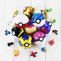 13 Unids/lote Elfo Cifras de Poke Bola 7 CM con El Envío Al Azar Figuras de Acción del anime Pikachu Pokeball Juguetes De Bolas Para Niños Mejor regalo