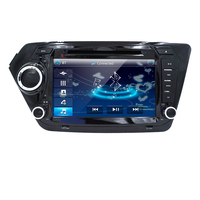 Сумасшедший автомобильный монитор, dvd мультимедийный проигрыватель для KIA RIO K2 все гольфкарты оснащены радио, gps навигация, ТВ, SWC, BT, USB/SD, русс...