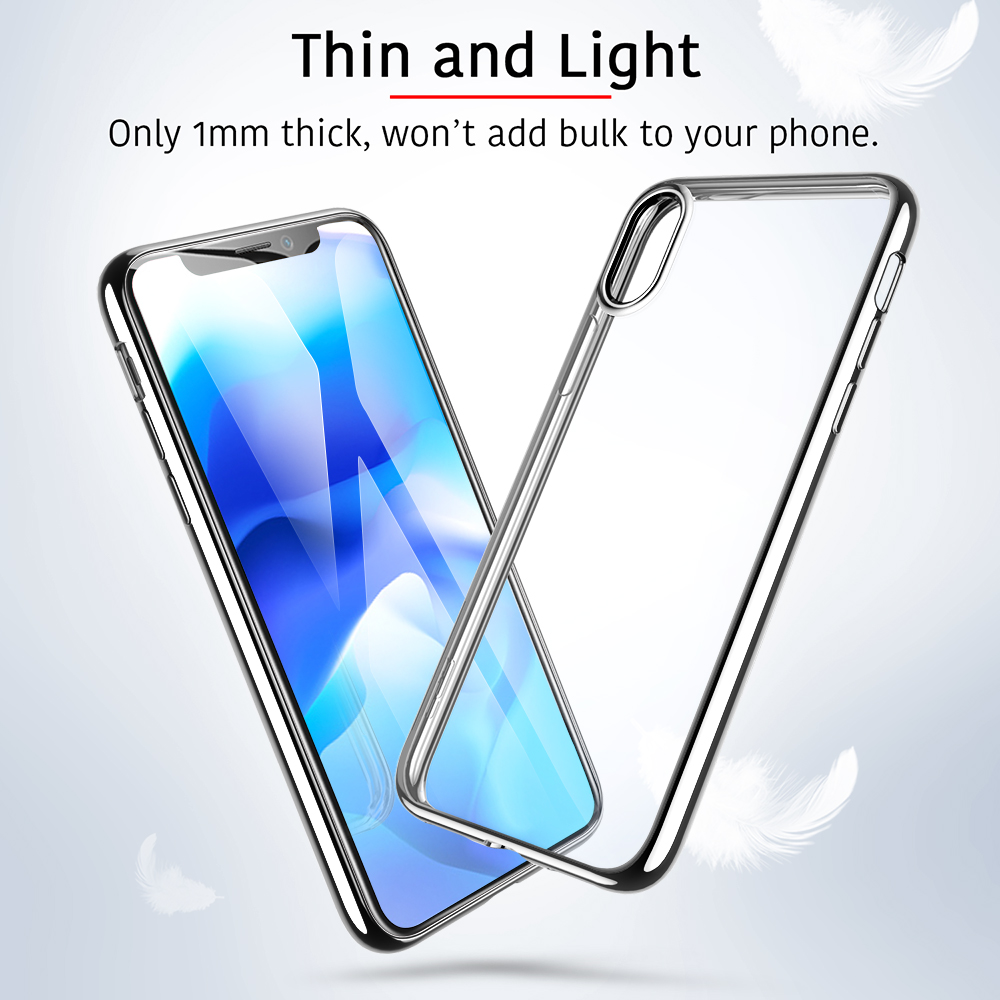 1Mm Ultra Thin Soft TPU Plating Frame Phone Cover For Iphone XS XR XS Max Case Full Cover For Iphone XS XR XS Max Phone Case