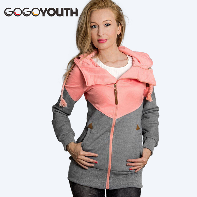 Surmiitro Spring Women Jacket 2019 Autumn Winter Oversized Hooded Sweatshirt Zipper Hoodies Plus Size Coat Female Sweat Femme 2