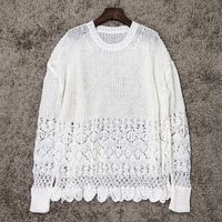 2019 new women casual sweater oversize pullover ddxgz2