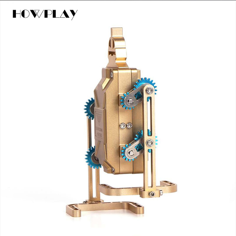 HowPlay Walking robot Metal Assembly Model Smartphone Remote Control Mechanical Assembly Adult Toys Children's Educational Toys howplay electric steam train model diy metal assembly model mechanical engine adult toys difficult assembly model children gift