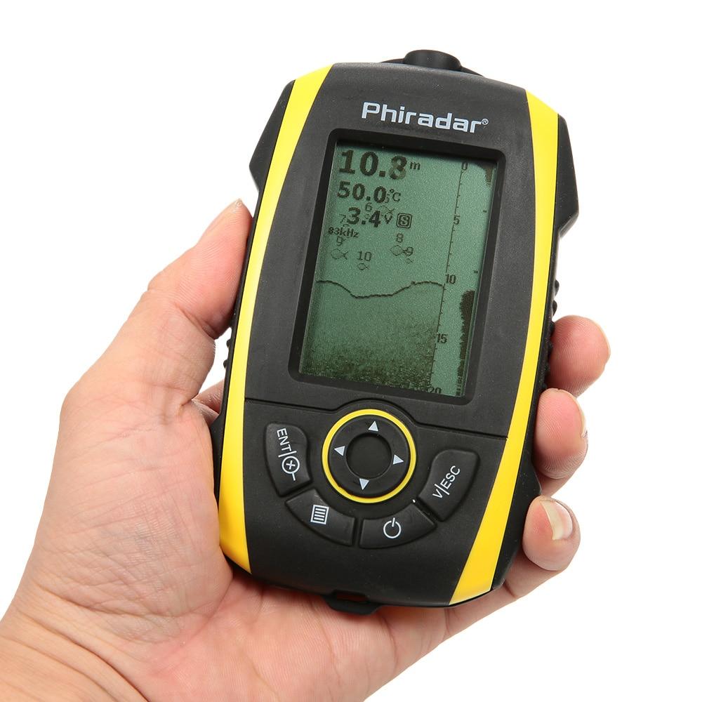 Protable electronic sonar fish finder 72m depth sounder for Sonar fish finder