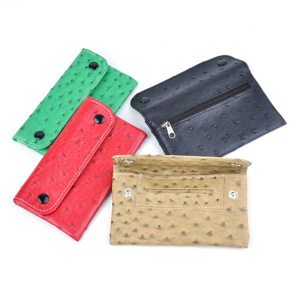 4 Colors Select New PU Tobacco Pouch With 78 MM Paper Holder Tobacco wallet Bag Purse Bag 61024
