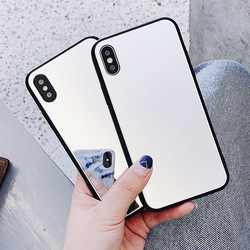 Mirror Cases For iPhone 7 8 X Cases iPhone 6 6s 7 8 Plus iPhone X Back Cover Hard Transparent Glass Protective Cases Mo1 4