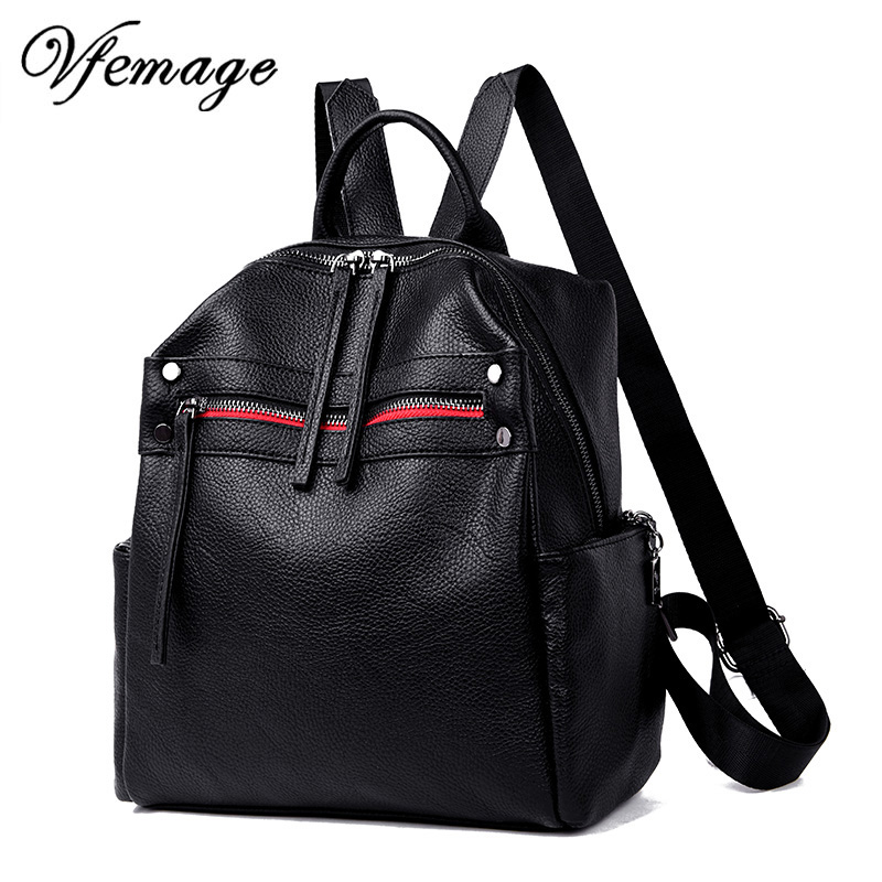 Vfemage Soft Leather Women Backpack Female Small Bagpack Teeanger Girls School Bags Feminina Fashion Backpacks Sac A Dos MochilaVfemage Soft Leather Women Backpack Female Small Bagpack Teeanger Girls School Bags Feminina Fashion Backpacks Sac A Dos Mochila