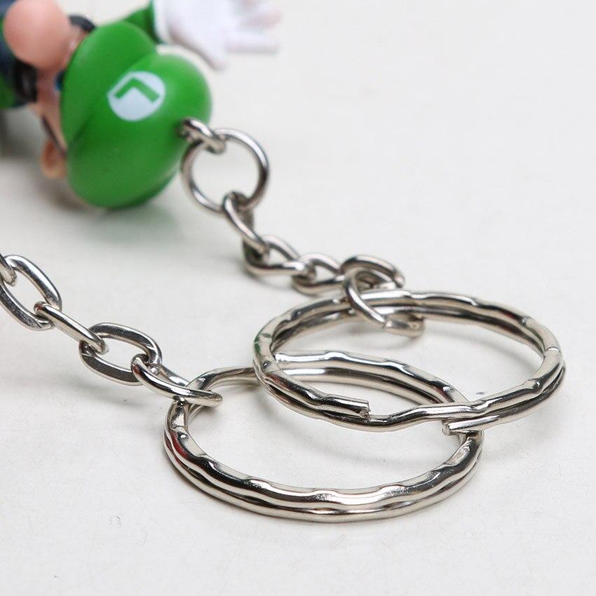 18 unids/set Super Mario Bros llavero Luigi Yoshi DONKEY KONG hongo ...