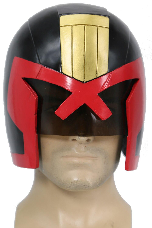 Xcoser Judge Dredd Helmet Movie Dredd Cosplay Figure Replica Mask Hallween Props