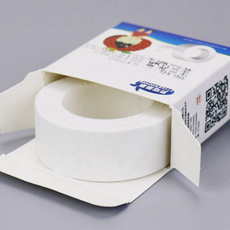 1 Roll Medical Tape Adhesive Plaster Gauze Fixation Tape First Aid Supplies Wound Dressing Breathable Cotton Cloth Tapes