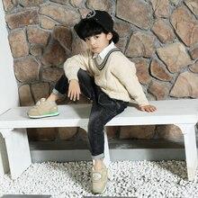 Boys khaki warm boots low cut style thick warm foam fur lining low-cut design water-resistance upper sitaqi brand non-slip free