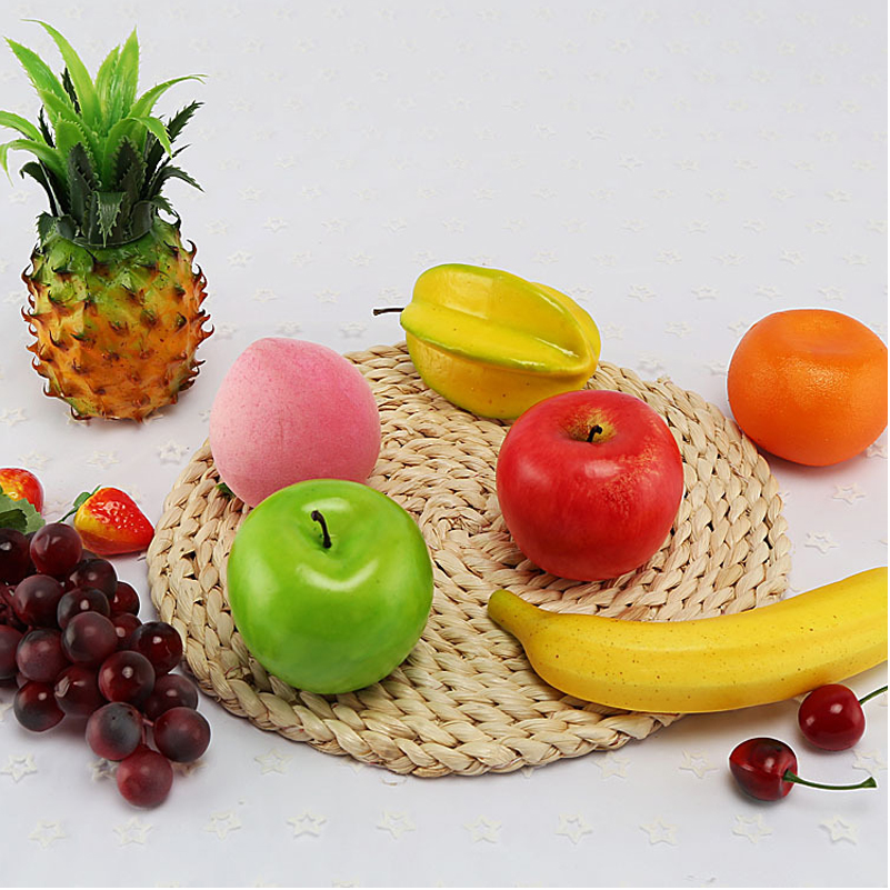 Image 5 - Artificial Apple Fake Fruit  Home Decoration Simulation Orange Ornament Craft Food Photography props Home-in Artificial Fruits from Home & Garden