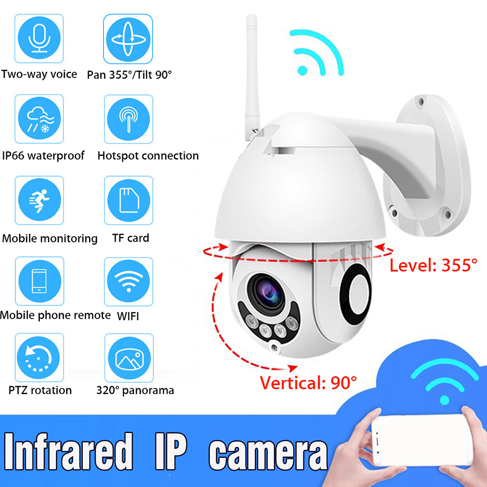 Full HD 1080 P caméra IP extérieure étanche WiFi caméra extérieure maison IP IR caméra sans fil Vision nocturne