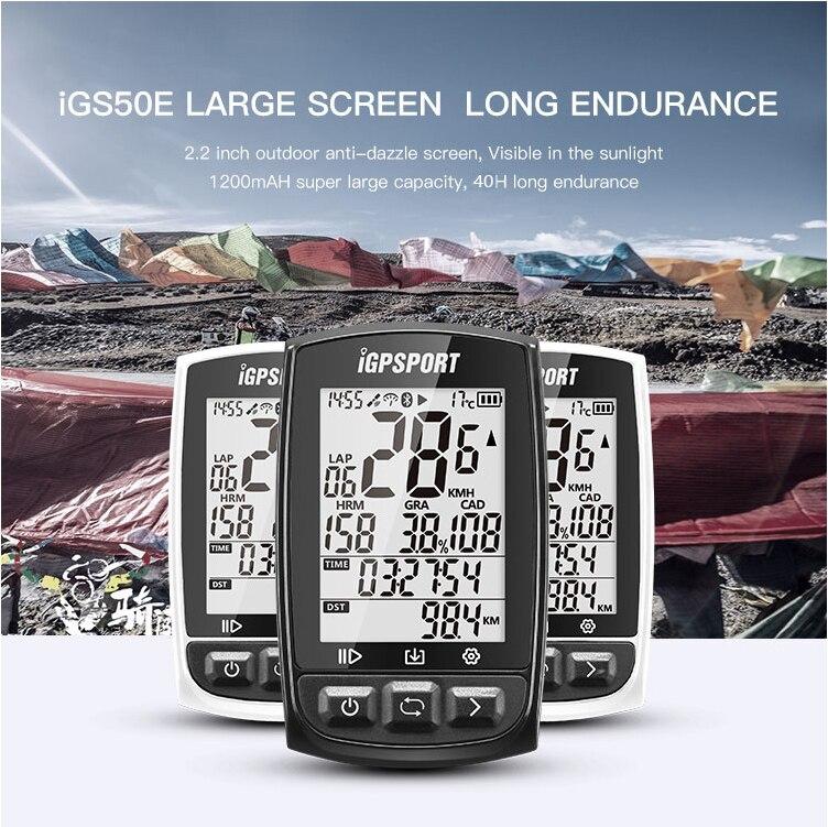 igS50 iGPSPORT Start the fastest 5S positioning wireless odometer iGS50E bike odometer 200 hours data storage