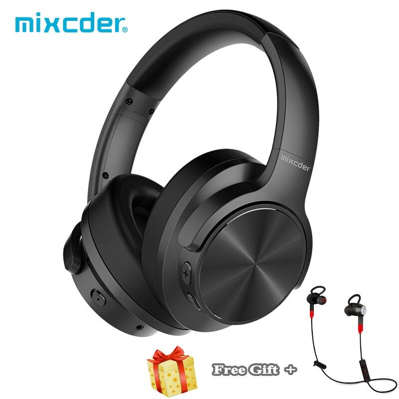 Mixcder E9 ANC Attivo Con Cancellazione del Rumore Cuffie Bluetooth Stereo con Microfono Trasduttore Auricolare Senza Fili + regalo libero di Sport Auricolari Auricolare