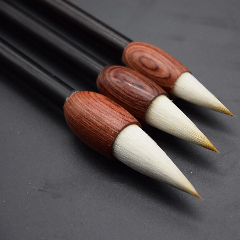 1pcs Weasel Hair Garlic shape Wooden penholder writing Brush big  Regular Script Multiple Calligraphy Paint Write  Art Supplies  цены