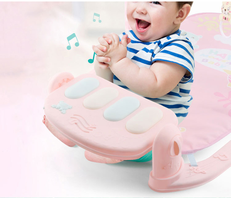 HTB1clH7KXuWBuNjSszbq6AS7FXaJ Play Mat Baby Gym Toys Gaming Carpet 0-12 Months Soft Lighting Rattles Children's Music Mat Blue Pink Baby Gifts Educational Toy