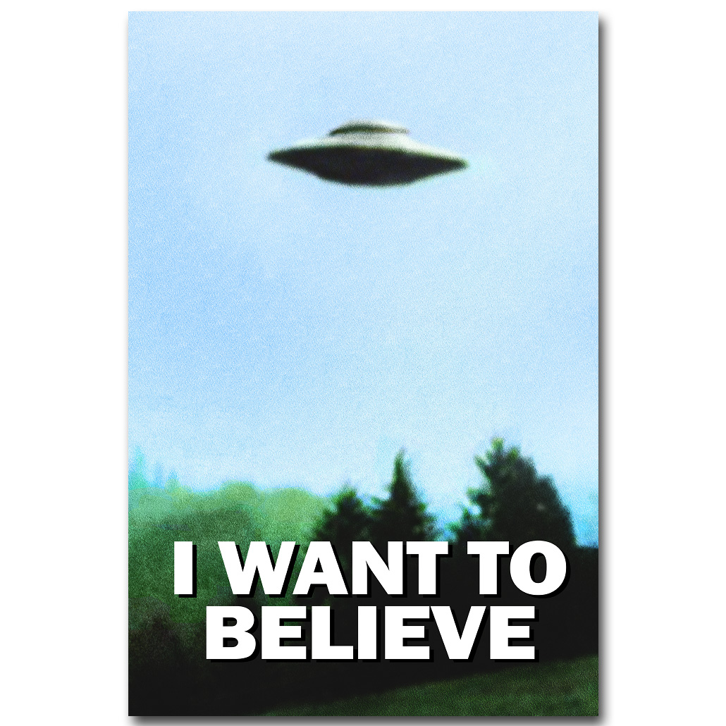 NICOLESHENTING I WANT TO BELIEVE The X Files Art SilkX Files I Want To Believe Poster