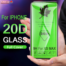 20D Curved Edge Full Cover Protective Glass On The For iPhone 7 8 6 6S Plus Tempered Screen Protector X XR XS Max Film