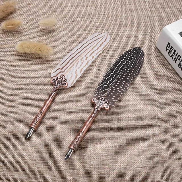 Retro Classical Feather Dip Fountain Pen