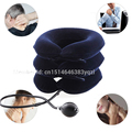 Neck traction device massager flannel cotton Cervical Portable Air Collar  for traction and treatment of cervical vertebrae