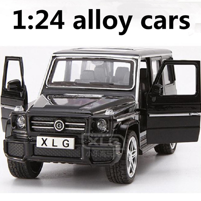 1:24 alloy cars,high simulation G63 SUV car models,metal diecasts,coasting,the children's toy vehicles,free shipping все цены