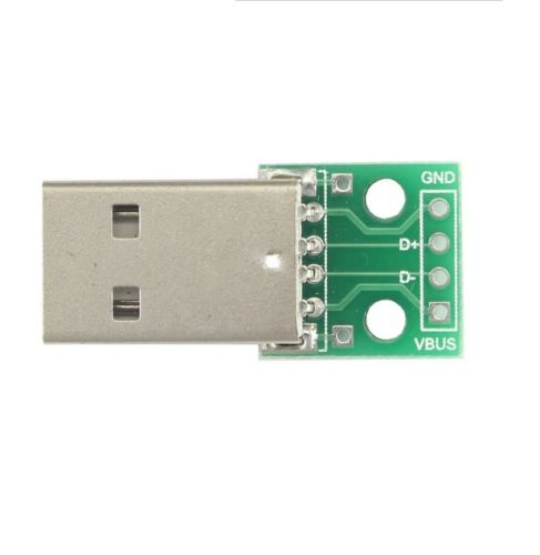 10 pcs USB to DIP Adapter Converter 4 pin for 2.54mm PCB Board Power Supply