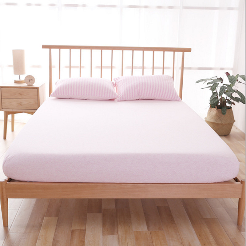 YANYANGTIAN mattress cover 100% cotton sheet tatami mattress protector pad fitted sheet double bed cover with elastic band