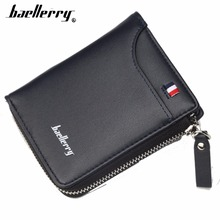 цены Baellerry PU Leather Short Style Zipper Card Photo Holder Men Wallet Casual Men Male Note Compartmen Men Purse Top Quality