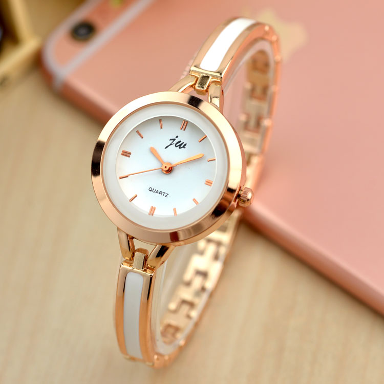 JW Fashion Bracelet Simple Watches Elegant Women Luxury Brand Ladies Quartz Wrist Watch Relogio Feminino Reloj Mujer Hodinky New classic simple star women watch men top famous luxury brand quartz watch leather student watches for loves relogio feminino