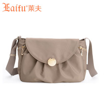Laifu Brand Design Women Mini Crossbody Bag Girls Flap Waterproof Ladies Nylon Shoulder Bag   European  Style Black Khaki