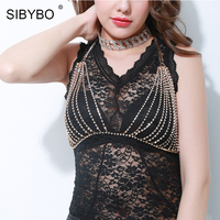 Sibybo Sexy Crop Tops Women 2017 Silver Gold 2 Colors Rhinestone Tank Top Short Mesh Bralette