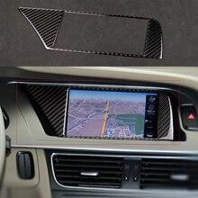 Auto GPS Navigation Screen Frame For Audi A4 B8 A5 2009-2016 Car GPS Navigation Cover Sticker Car Interior Decals держатель для gps lk navigation y70y60y80y96