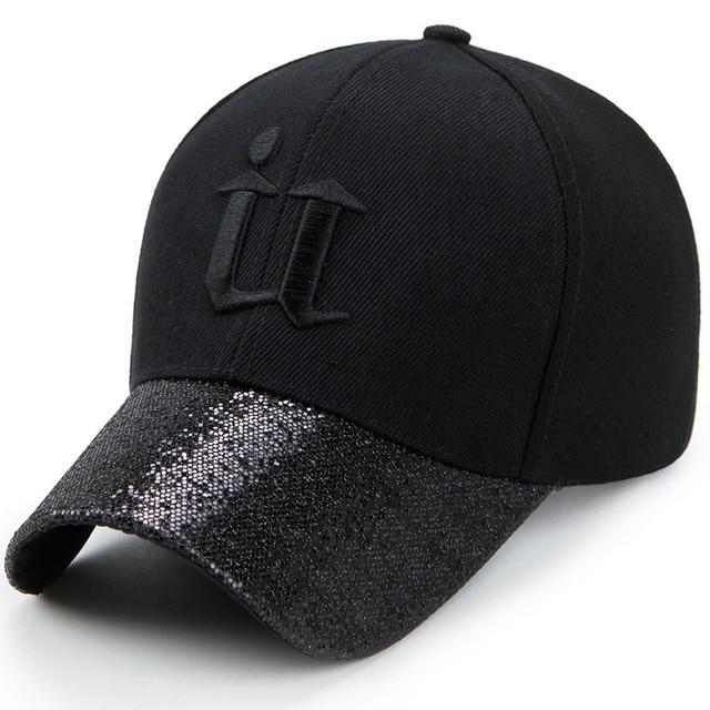 9e46da3cedf Korean Style Men Women s Hip Hop Dad Hat Sequin Curved Brim Baseball Cap  Size 56-