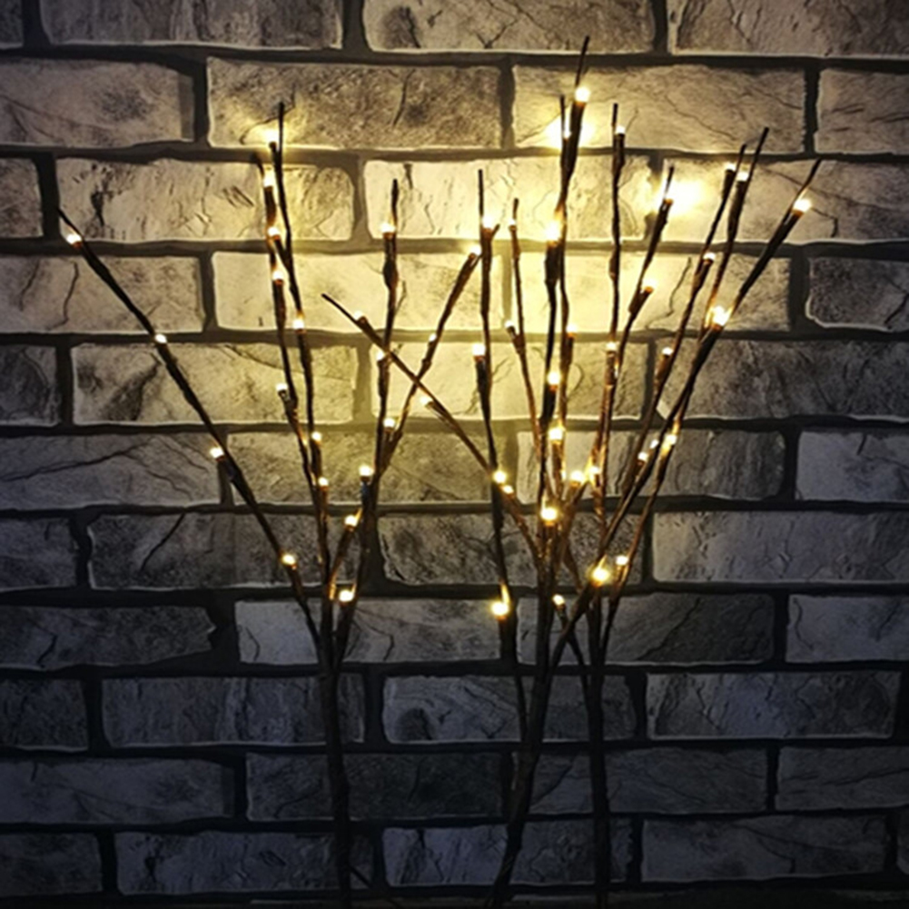 2018 LED Willow Branch Lamp Floral Lights 20 Bulbs Home Bedroom Christmas Party Layout Garden Decor Creative Small Night Light